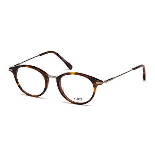 Tod's Unisex-Erwachsene TO5169 Sonnenbrille, Braun (Avelana Colorata), 48.0