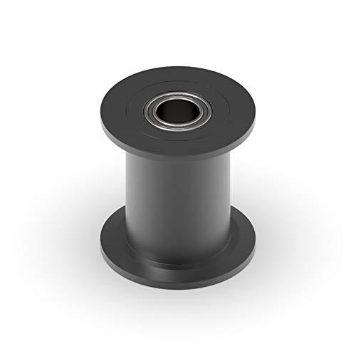 LCuiling-Polea de distribución GT2 2GT 20 Dientes Rueda sincrónica de la rueda de la polea, orificio 3/4 / 5 / 6mm, con cojinete para cinturón de 6/10 mm, accesorios de impresora 3D Aleación de alta c