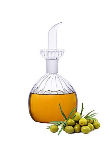 HAIZEEN 【300ml Ampolla Multiuso in Vetro, Decanter per Olio in Vetro e Ampolla per Cucina e Barbecue.