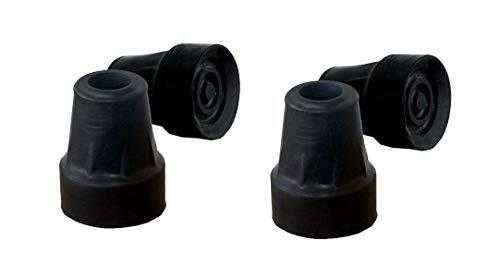 PEPE-PUNTALE, Puntale per stampelle 19 mm e 18 mm (4 pezzi), Gommini stampelle, Puntale stampelle, Piedini per stampelle, Gommino per stampella, Gomma stampella, Piedini stampelle