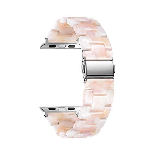 BINLUN Pulseras de Repuesto para Smartwatches de Resina Compatibles con Apple Watch Series 1/2/3/4/5/6,SE/Nike/Sport/Hermes/Edition 42mm 44mm Correas de Reloj Resina en 14 Colores para Hombre y Mujer