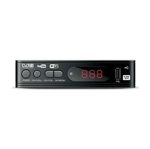 WINBST Receptor DVB T2 1080P HD TV Reproductor multimedia Set-Top-Box Receptor de TV Digital FTA YouTube PVR