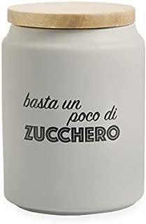Villa d'Este Home Tivoli Sugar Jar, Grey, 11 x 15 cm