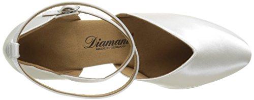 Diamant Diamant Standard 105-068-092 Damen Tanzschuhe – Standard & Latein, Damen Tanzschuhe – Standard & Latein, Weiß (Weiß), 40 2/3 EU (7 Damen UK) - 7