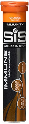Science in Sport Immune, Effervescent Immunity Boosting Tablets, Vitamin C and Iron Complex. Orange Flavoured (20 Tabs)