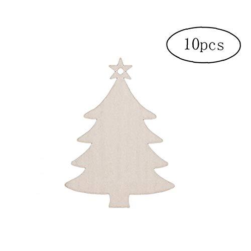 sjqc9561 10 Piezas De Madera De Árbol De Navidad Decoració