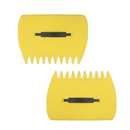 skycabin Yellow Large Garden and Yard Leaf Scoops,Plastic Scoop Grass,Hand Leaf Rakes and Leaf Collector for Garden Rubbish Great Tool (Set of 2)