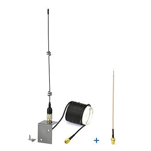 Eightwood 868 MHz LoRa Antenne SMA Prise (Rallonge SMA 3 m + base portable) Antenne Extérieure + Câble Brousse de prise SMA 15cm pour Helium Hotspot Miner LoRaWAN Gateway Homematic CCU3 CCU2 Raspberry