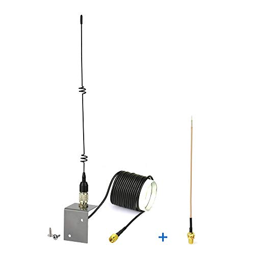 Eightwood 868 MHz Antenne SMA Stecker(3m SMA Verlängerung + Tragbare Basis) Außenantenne + SMA Buchse Schott Kabel 15cm für Homematic CCU3 CCU2 Raspberry Pi Fibaro ELV Bausatz RaspberryMatic MEHRWEG