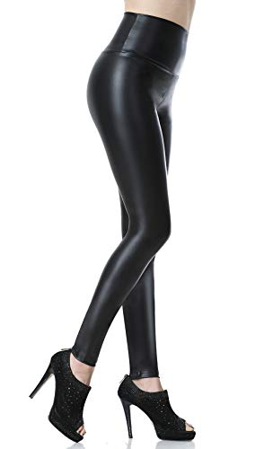Everbellus Sexy Womens Faux Leather High Waisted...