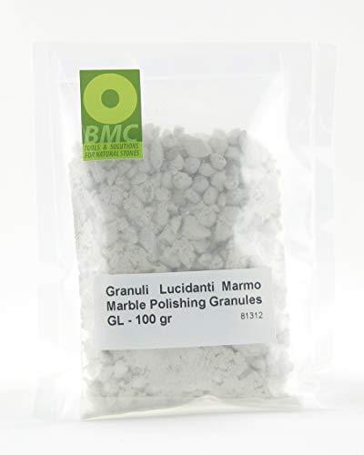 BRICO MARBLE CARE GRANULI LUCIDANTI Marmo GL-100 per lucidare a Mano Marmi travertini e Pietre carbonatiche, lucidare Il Marmo Macchiato