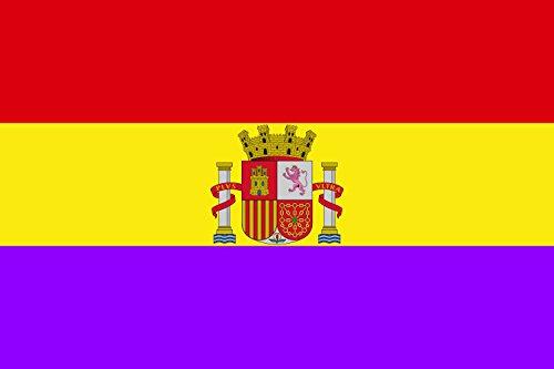 magFlags Bandera Large Versión Moderna de la Bandera Republicana española | Bandera Paisaje | 1.35m² | 90x150cm