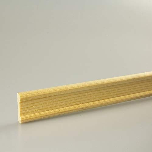 Profilleiste Zierleiste Abschlussleiste Bastelleiste aus geschliffenem Kiefer-Massivholz 1500 x 22 x 7 mm