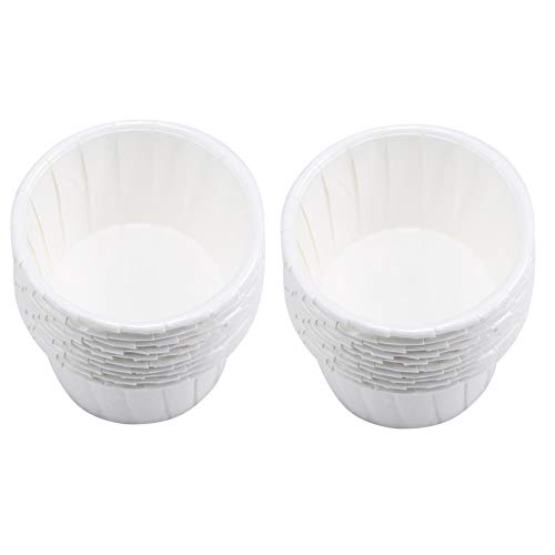 Tazas De Papel Cera para El Pelo Herramientas De Frijol Sin Pelo Cera Cara De Mantequilla Taza De Pastel Blanca para La Depilación 100pcs