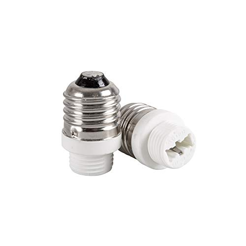 Mextronic Conversor de cerámica, 2 casquillos adaptador convertidor E27 a casquillo G9, adaptador de lámpara para bombillas LED, lámparas halógenas, bombillas CFL