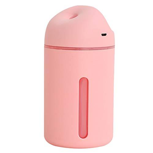 Desconocido Generic Portátil de Viaje Pequeño Humidificador de Aire de Niebla Fría USB Recargable 320ML - Rosado, Individual