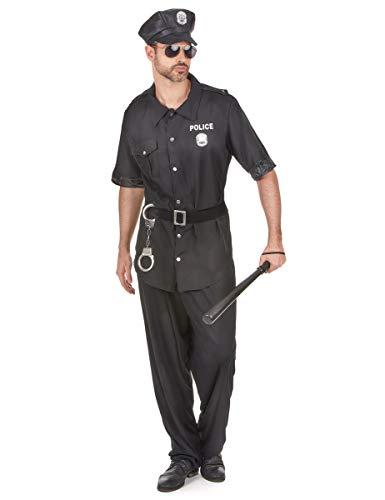 DEGUISE TOI Déguisement Policier Noir Homme - L