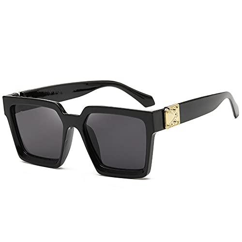 NBJSL Gafas De Sol Cuadradas De Gran Tamaño Para Mujeres, Hombres, Moda, Protección Uv400, Gafas De Sol (Caja De Embalaje Exquisita)