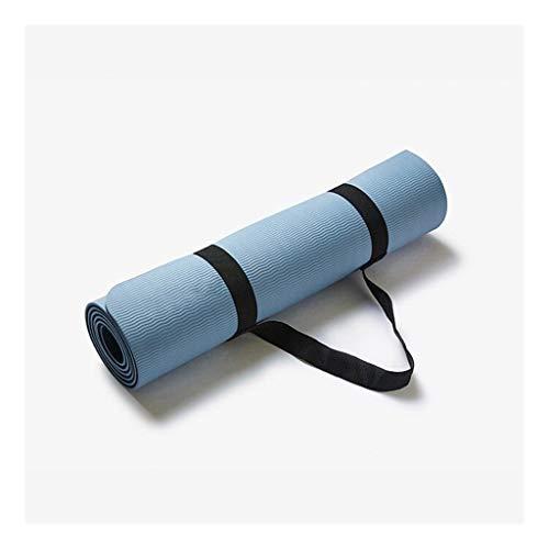 Fitness Mats for mannen en vrouwen te verhogen verdikking TPE yogamatten Fitness Sports Mat Training Mats Dubbelzijdig anti-slip beschikbaar Cherry Poeder + Ink Blue (Color : B)
