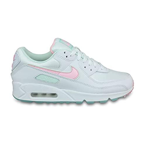 Nike Wmns Air MAX 90, Zapatillas de Gimnasio Mujer, White/Multi, 36.5 EU