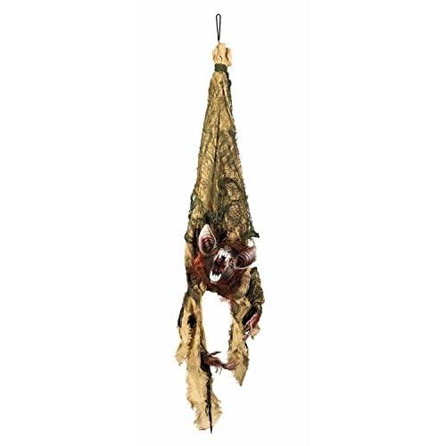 Decorazione appendibile pipistrello Shocking con suoni, luci e movimento(110 cm)