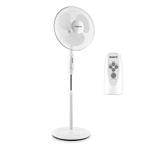 oneConcept White Blizzard RC 3G - Standventilator, Standlüfter, weiße Rotorblätter, Timer, Oszillation-Schwenkfunktion, 3 Geschwindigkeitsstufen, weiß