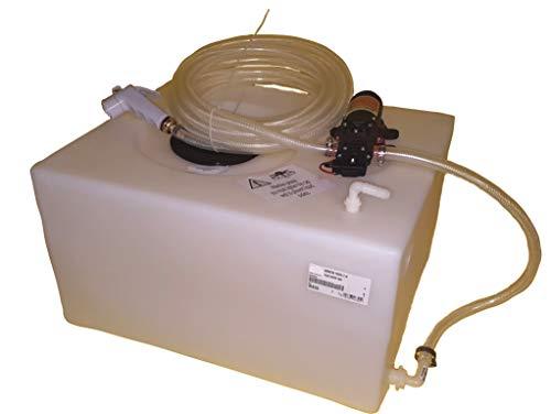 Fonti Snc Kit de ducha con bomba autoclave de 12 V y depósito para agua náutica y autocaravana.