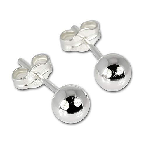 Silberdream Damen-Ohrringe Kugel 925 Sterling Silber Sdo515