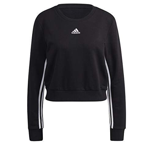 adidas W 3S SWT Suter Pulver, Negro, L para Mujer