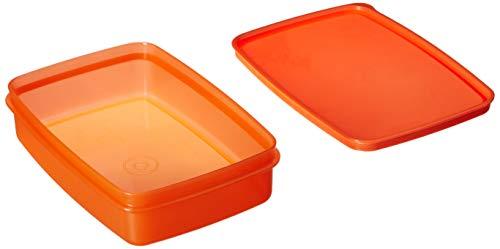 Signoraware Crispy Slim Plastic Container Set, 550ml, Set of 1, Peach