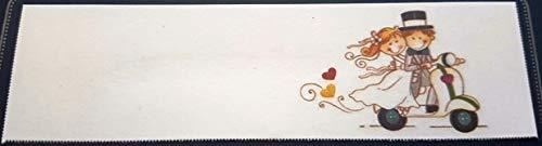 Pianeta Confetti Bigliettini per Bomboniera Nozze Matrimonio Wedding Vespa, 50 pezzi
