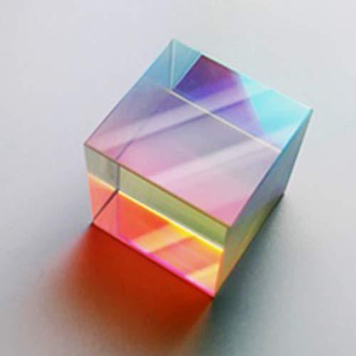 Huyiko Mehrfarbig Kombination, Splitter, Kreuz, dichroisch, RGB Optik, dreieckig, aus optischem Glas, zum Lernen des Spektrums, 20 mm