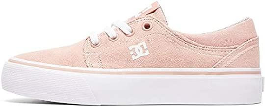 DC Girl's Trase Skate Shoe, Peach Parfait, 5 M US Big Kid
