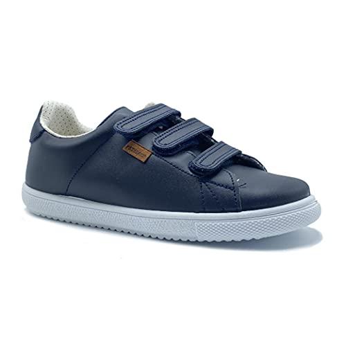 Zapatos Colegio niña niño Calzado colegial Unisex Zapatillas con Aromaterapia antimosquitos Zapato Escolar Muy Resistente con Plantilla termoconformada (Marino, Numeric_30)