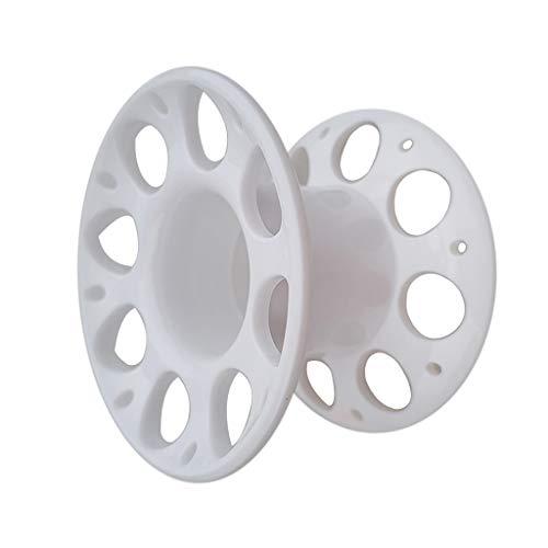 #N/A Carrete de plástico para deportes de buceo, color blanco