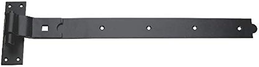 8 x CRANKED Haak & Band SHED Deurscharnieren Staal Zwart 400mm x 45mm x 4.5mm