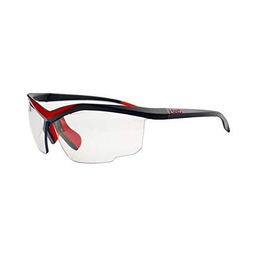 EASSUN Gafas de Running Spirit PH, Fotocromáticas con Sistema de Ventilación Airflow - Negro y Rojo