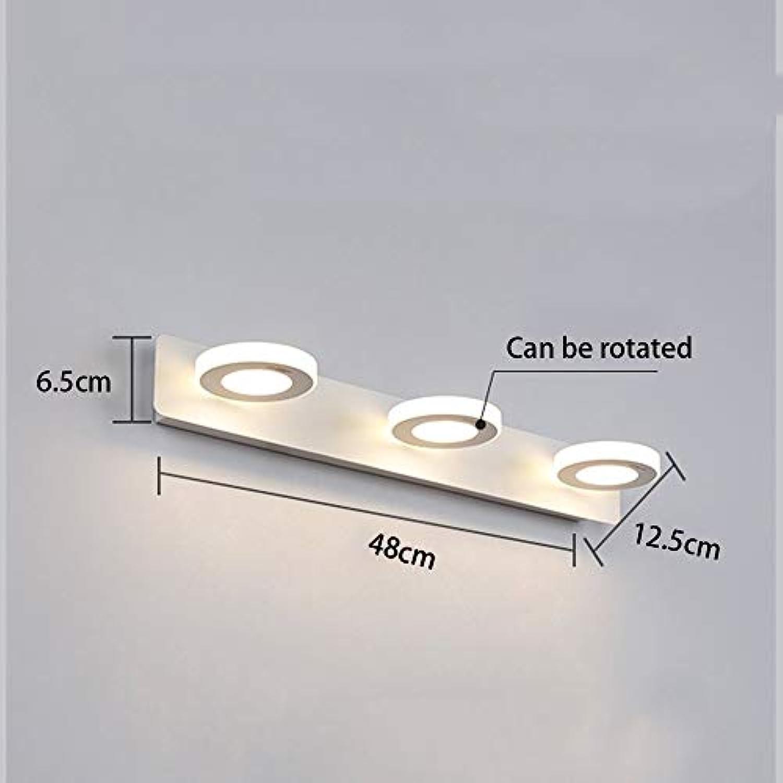 BAIJJ Anti-Korrosions-Anti-Rost-Spiegel Frontlicht - LED-Spiegel Frontlicht Einfache Moderne Badezimmerleuchten Badezimmerleuchten Augen Make-up Lichter wasserdichte Anti-Nebel-Toiletten Licht (2-