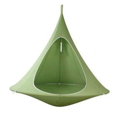 weichuang Außenzelt Außenzelt Camping Baumzelt, Kinder Schmetterling Hängematte Schaukel, Outdoor-Camping-Villa Hof Zelt Sonnenschirm Freizeit-Sofa Zelt (Color : Green)