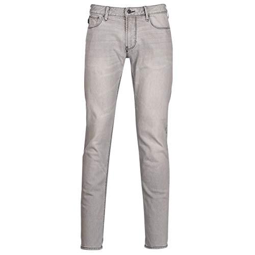 Emporio Armani PAWA Jeans Hommes Gris Slim Jeans