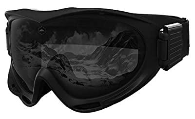 Ski & Snowboard Goggles - Snow Glasses for Skiing, Snowboarding, Motorcycling & Outdoor Winter Sports - Anti Fog & Helmet Compatible Snowmobile Gear with UV400 Protection - Fits Men, Women & Youth
