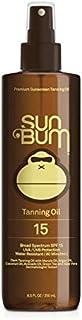 Sun Bum Moisturizing Tanning Oil, SPF 15, 8.5 oz Bottle, 1 Count, Broad Spectrum UVA/UVB Protection, Coconut Oil, Aloe Vera, Hypoallergenic, Paraben Free, Gluten Free, Vegan