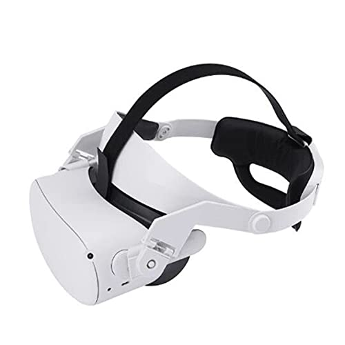 JJWA Correa de Halo para auriculares Oculus Quest 2 VR, reduce la presión de la cabeza ajustable, almohadilla ligera y cómoda, accesorios de realidad virtual (actualización)