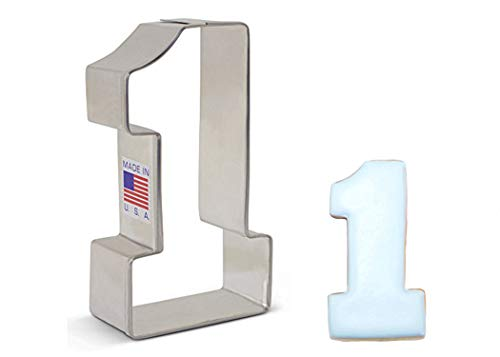 Ann Clark Cookie Cutters Number One / #1 Cookie Cutter, 3.25'
