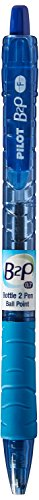 Pilot B2P - Bottle to Pen - Retractable Ball point Pens Made from Recycled Bottles, Dozen Box, Fine Point, Blue