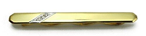 Herren Krawattenklammer 750 Gelbgold Weißgold bicolor 18 ct Brillanten 0,030 ct M01-A0016