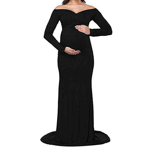 FRAUIT Vestiti Premaman Donna Cerimonia Vestiti Donne Incinte Gonne Fotografiche di maternità Abiti Eleganti Donne Incinte Maxi Abito Lungo Maternity Dress Photography