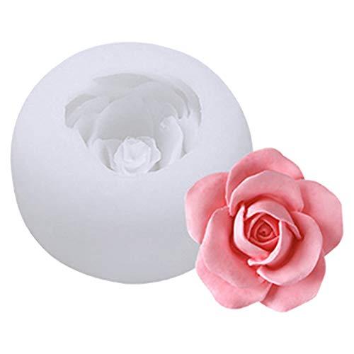 Silikon Rosenform Eiswürfelform, 3D Rose Form Gießformen DIY Backen Schimmel Schimmel für Cocktails Trinken Eistee Küche Küche Silikon Kuchen Schokolade Backen Schimmel 8 * 8 * 6cm (C)