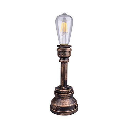 Vintage Eisen Industrielle Wasserpfeifen Tischlampe American Edison Antique 1 Heads Stehleuchte Tischleuchte für Nachttisch Warehouse Robot Steampunk Leselampe XYJGWSTD