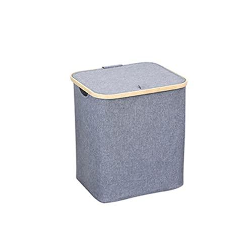 MTYQE Cesto de lavandería con Tapa, cestas de lavandería de bambú para baño, protección del Medio Ambiente Natural, cestas de Almacenamiento, Utilizado para Guardar Ropa, Mantas, Juguetes